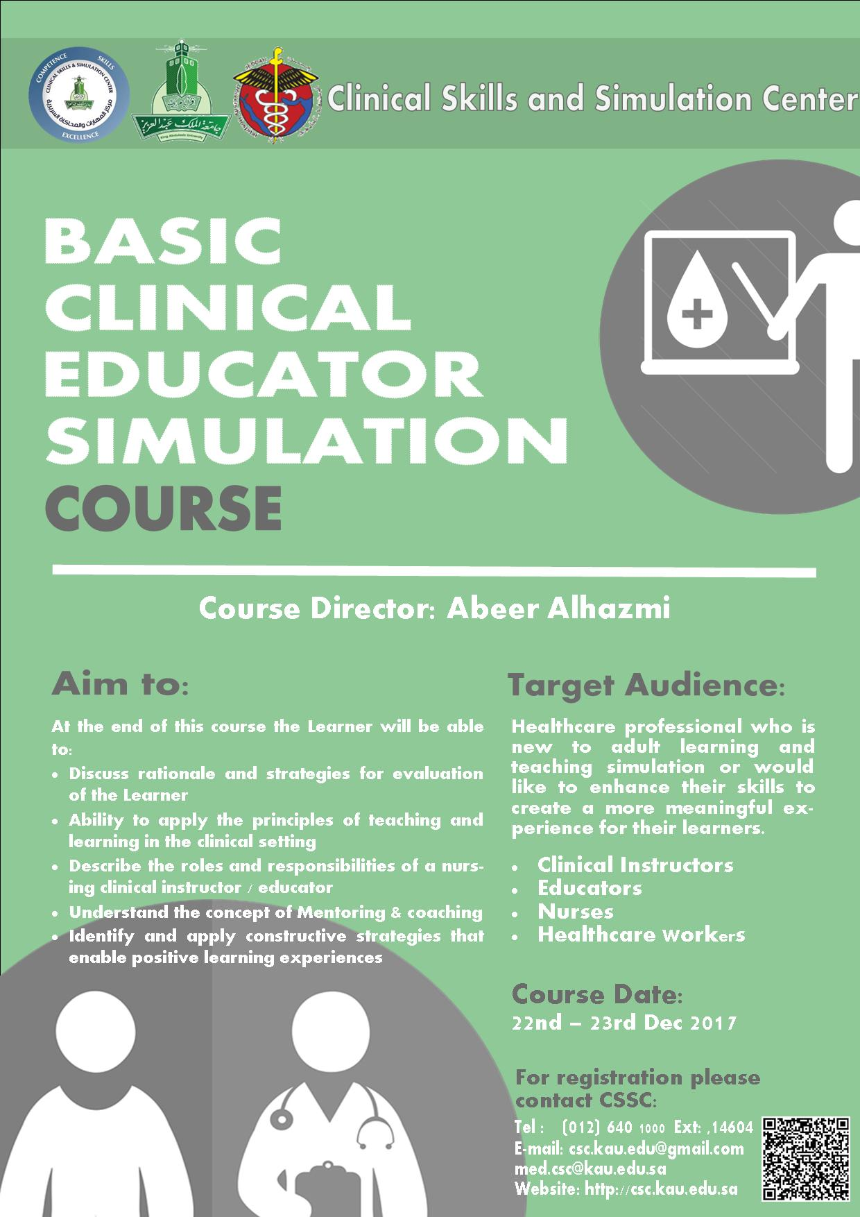 Clinical Skills Center - Basic Clinical Educator Simulation Course