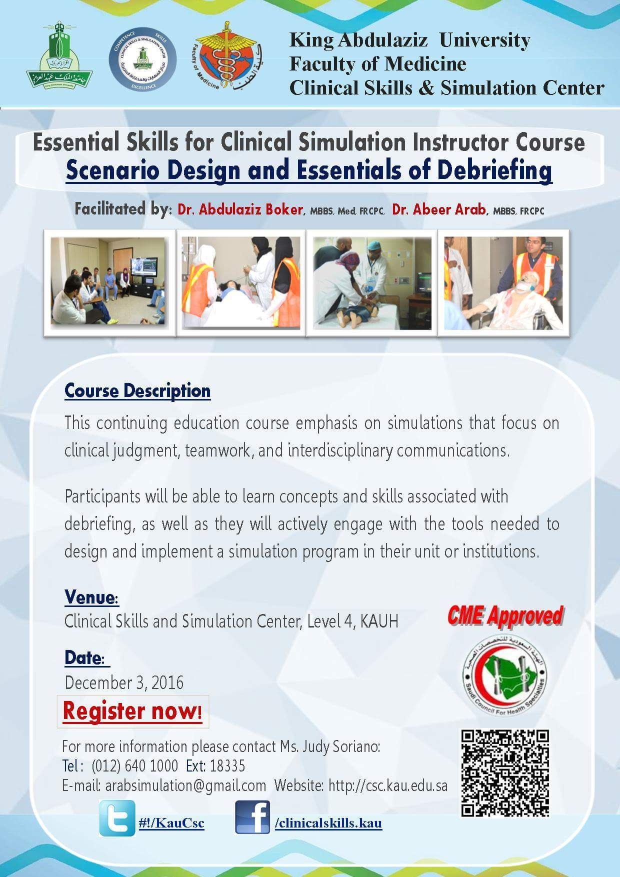 Clinical Skills Center - Courses and Workshops