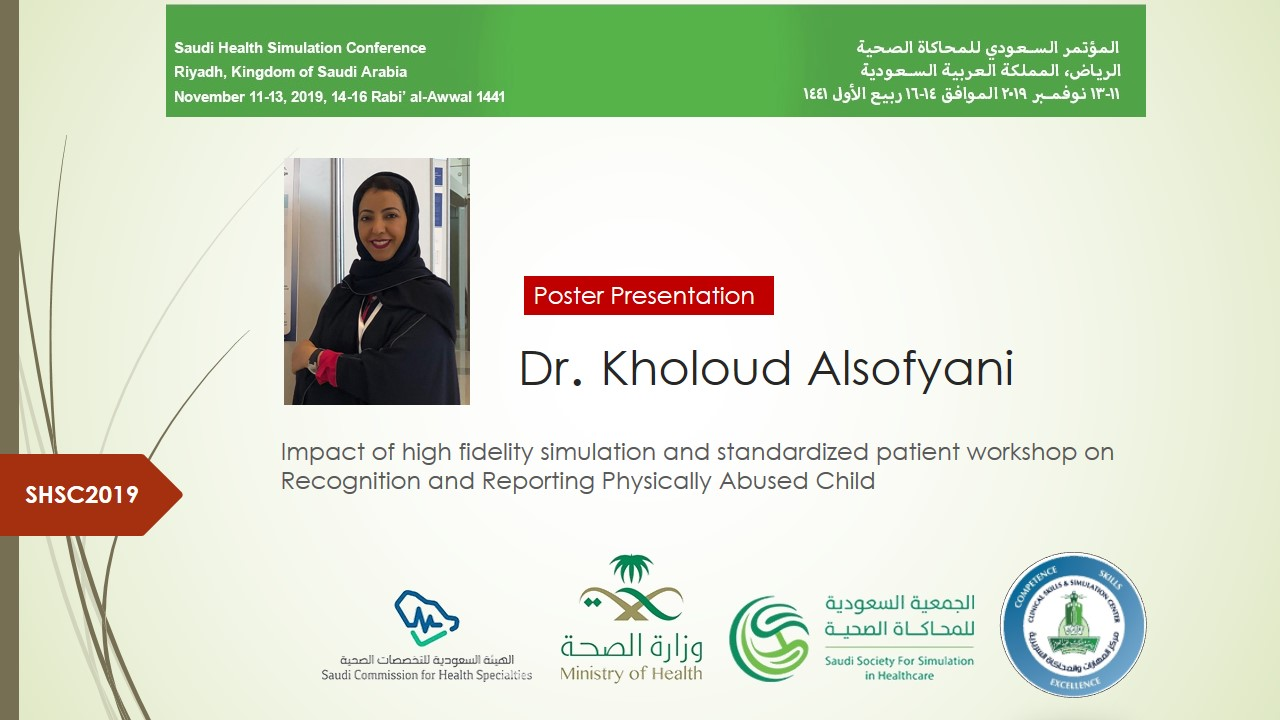 Impact of high fidelity simulation and standardized patient workshop on Recognition and Reporting Physically Abused Child